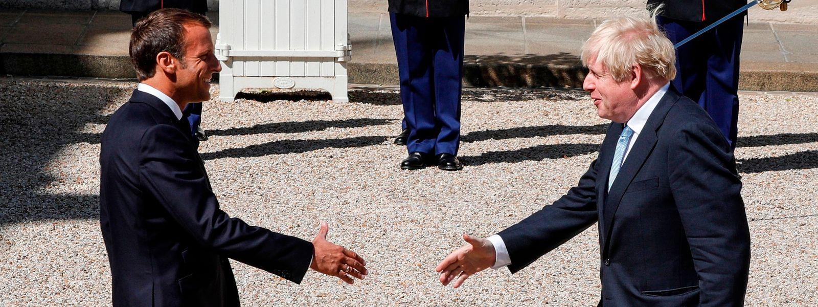 Le Président Emmanuel Macron a reçu ce jeudi le Premier ministre britannique Boris Johnson au palais de l'Elysée.