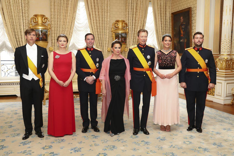 Die großherzogliche Familie hatte am Sonntagabend in den Palast geladen.