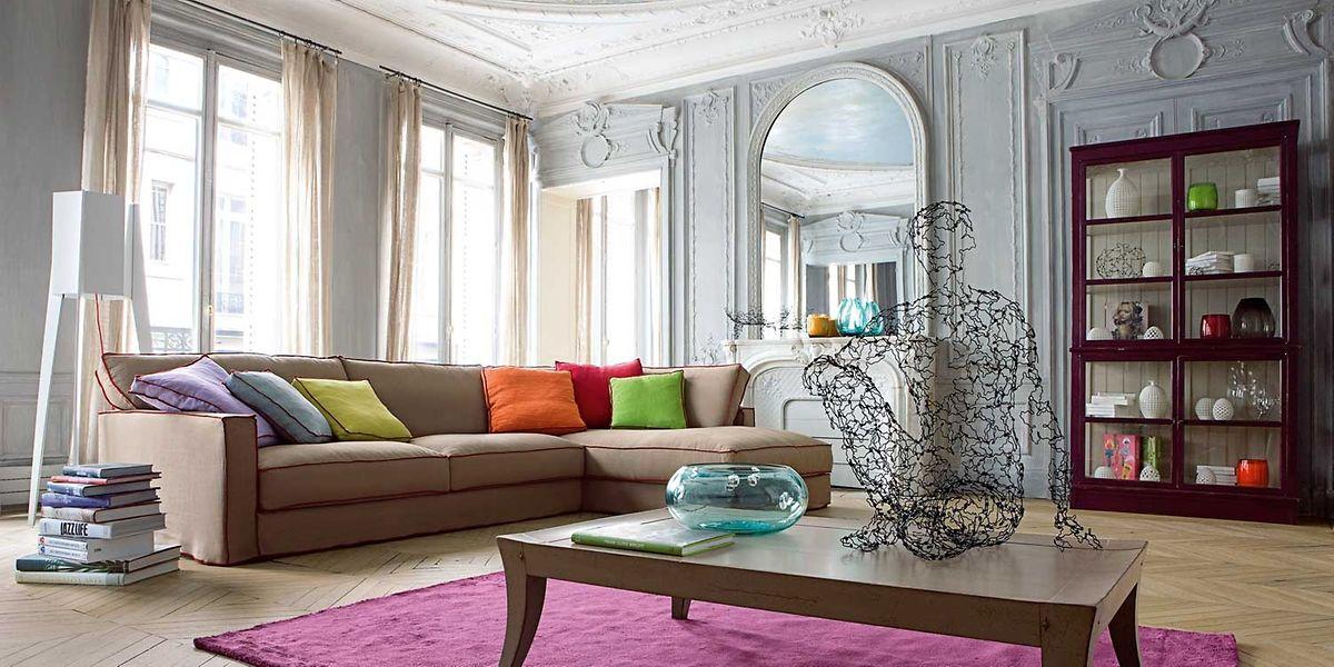 Im Wohnraum sorgen Auswahl und Komposition an Farben und Materialien für Wohlbefinden.