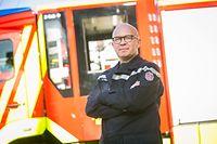 Neuer Feuerwehrkommandant Stadt Luxemburg Serge Heiles, Foto Lex Kleren