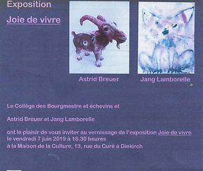 Joie de Vivre- Ausstellung an der Maison de la Culture