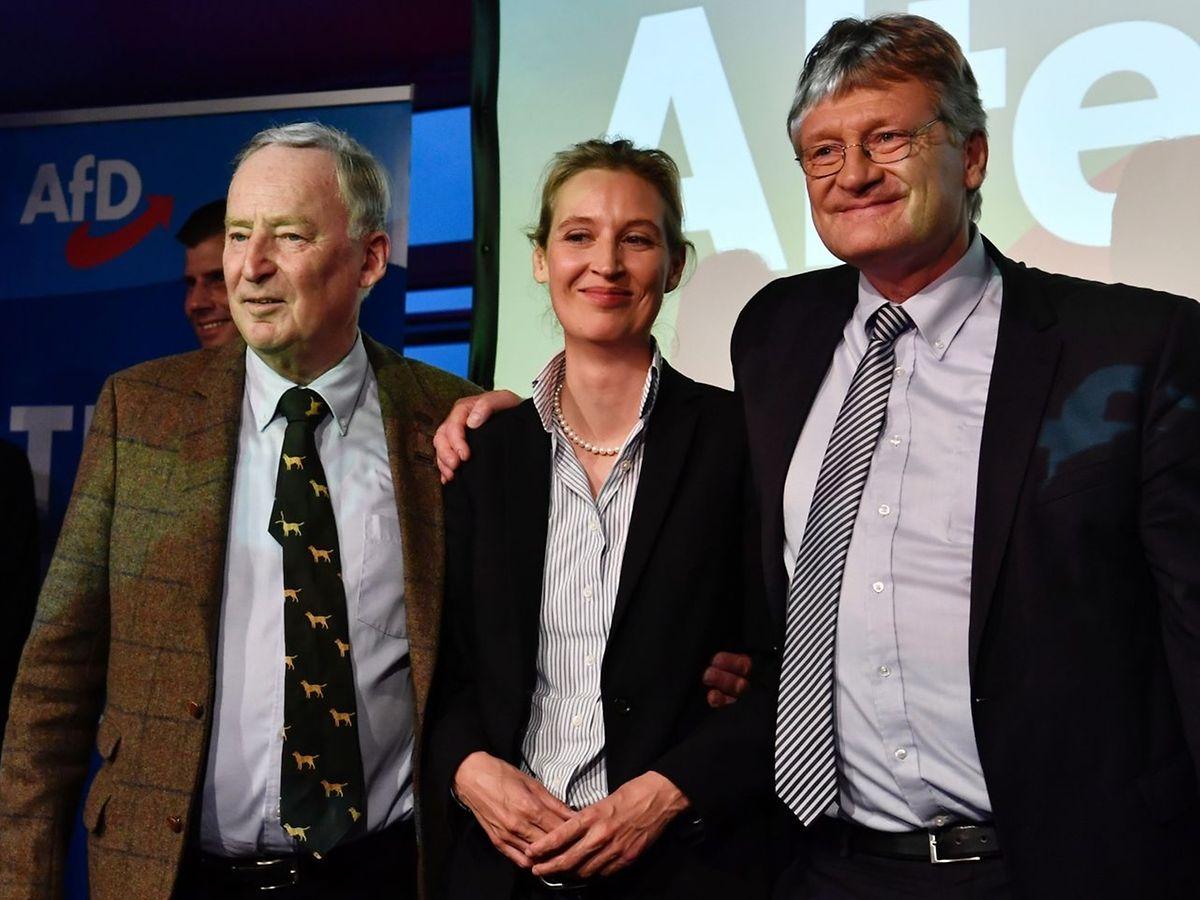 AfD-Spitzentrio Alexander Gauland, Alice Weidel und Bundessprecher Joerg Meuthen.
