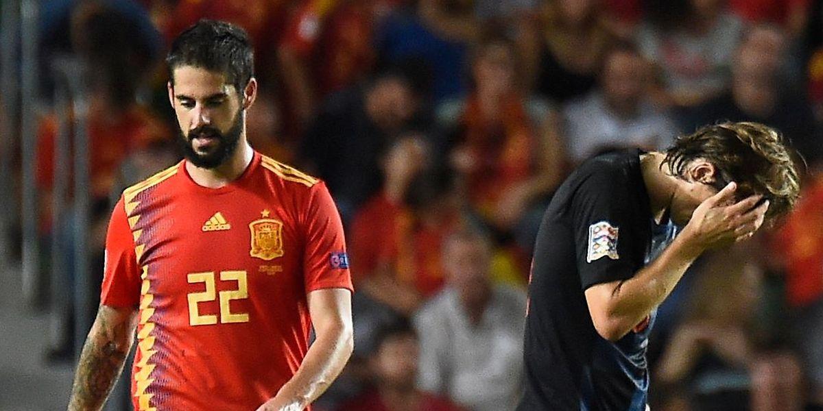 Soirée cauchemardesque pour la Croatie de Luka Modric balayée par l'Espagne d'Isco 0-6.