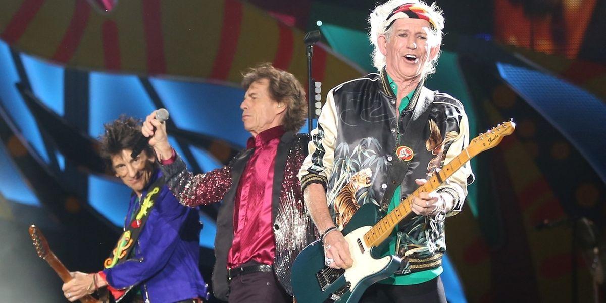 Die Altrocker Keith Richards (R), Mick Jagger (M.) und Ronnie Wood lassen nicht locker.