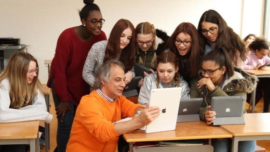 """Alain Rischartz war einer der ersten """"iPad-Lehrer"""" des Landes."""