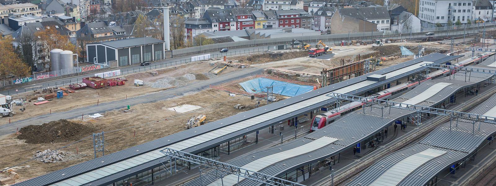 Wichtige Investition: Der Bahnhof Luxemburg wird derzeit ausgebaut.