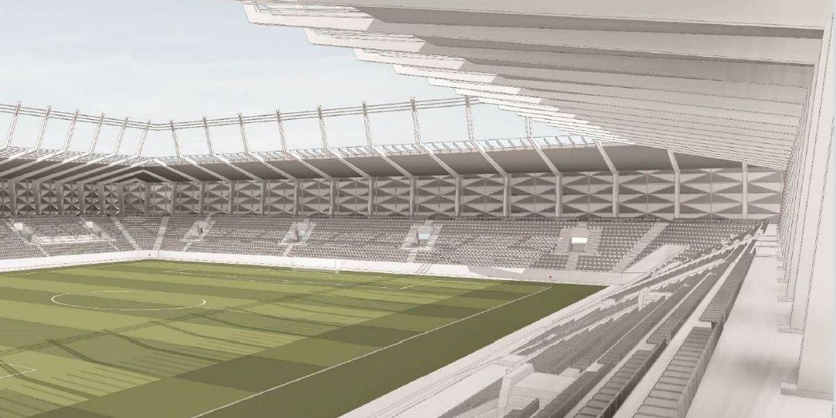O futuro estádio nacional vai ter capacidade para 9.595 espectadores