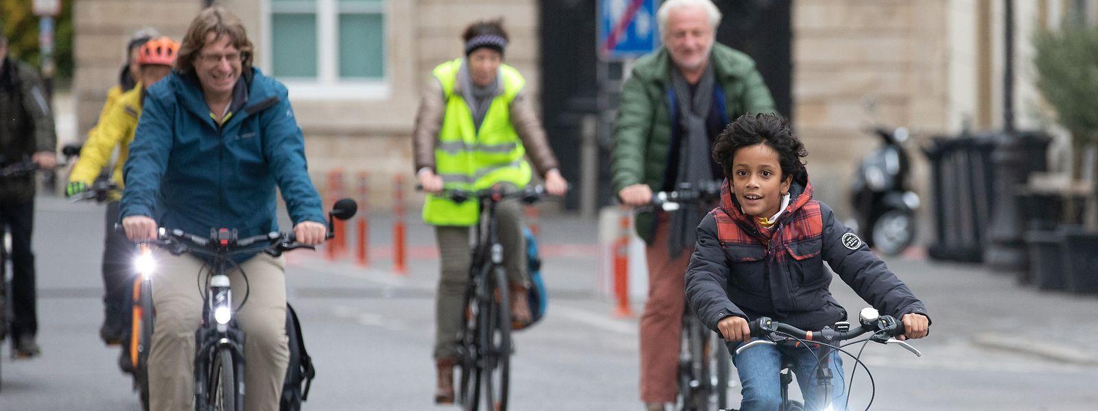 Die Zahl der Radfahrer in der Hauptstadt hat in den letzten Jahren erheblich zugenommen.