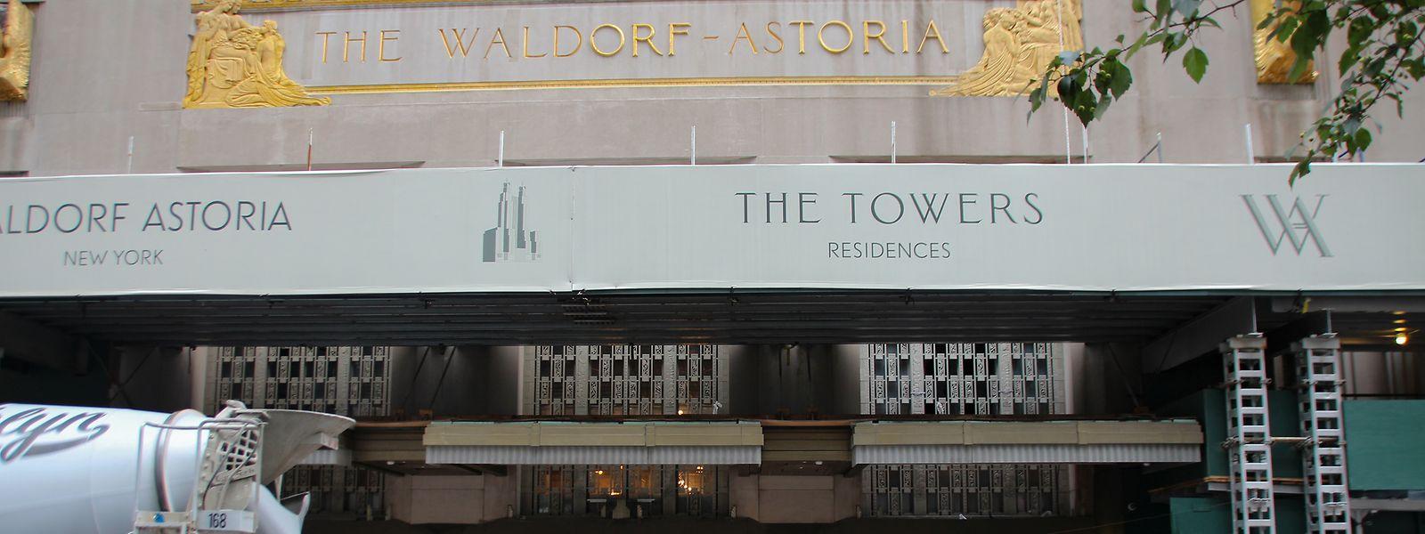 Renovierungsarbeiten am Waldorf Astoria. Das berühmte Luxushotel an der Park Avenue ist derzeit wegen Renovierung geschlossen.