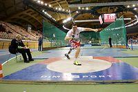 Kugelstossen, Tom Habscheid (CAD - 1894) / Leichtathletik Saison 2017 / 20.01.2017 /FLA Indoor Meisterschaften 2017 / d'Coque Arena, Luxemburg-Kirchberg /Foto: Ben Majerus