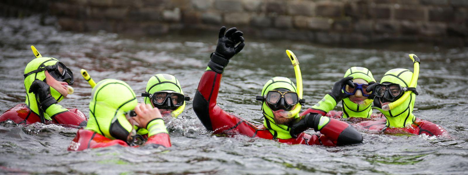 Im Wasser sind die Rettungsschwimmer in ihrem Element.