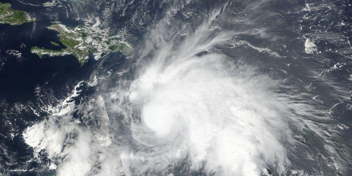 Der Hurrikan Matthew über der Karibik.