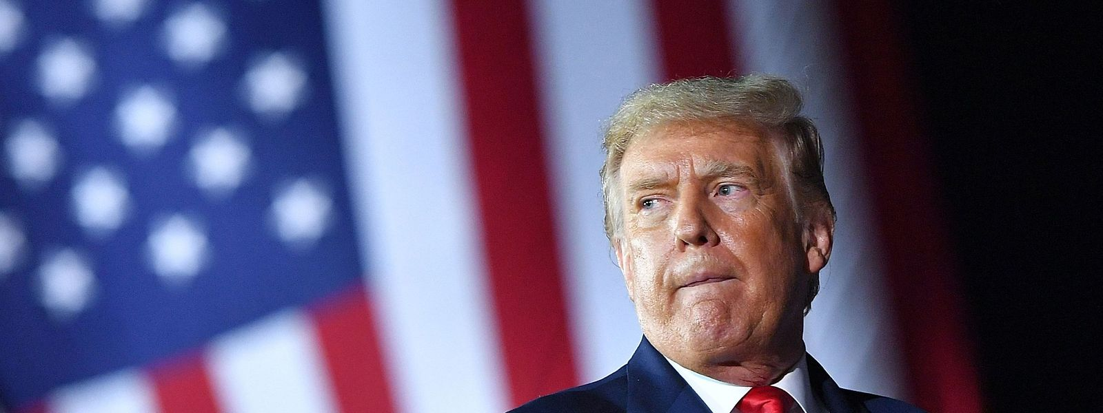 Donald Trump während eines Wahlkampfauftritts in Freeland, Michigan.