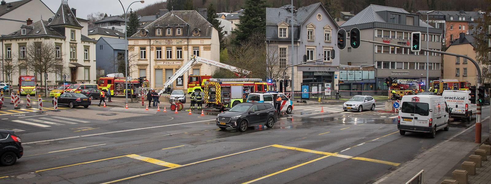 """Am Freitagmorgen ereignete sich an der Place d'Argent ein Dachstuhlbrand im Restaurant """"La Mirabelle""""."""