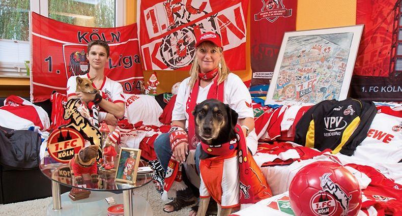 Fussballfan FC Köln,Chantal de Boger et Scott,Foto:Gerry Huberty