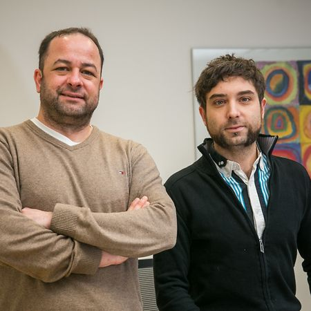 Dr. Fränz D'Onghia (l.) und Vincent Navet.