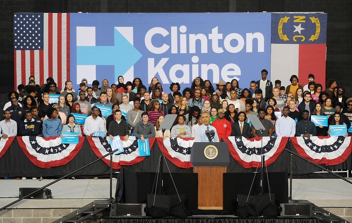 Präsident Obama macht Wahlkampf für Hillary Clinton. Das Clinton-Lager zeigt sich noch nicht siegessicher.