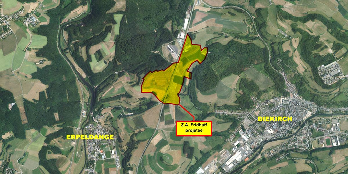 45 Hektar direkt an der B7: Die neue Zano-Gewerbezone ist durchaus attraktiv.