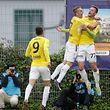 Die F91-Stürmer Sanel Ibrahimovic und David Turpel (r.) zeigten Differdingen die Grenzen auf.