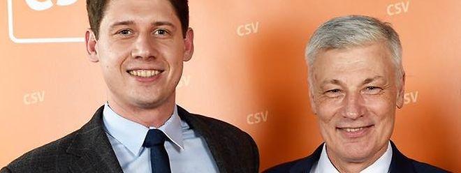 Christopher Lilyblad (l.) ist im vergangenen Oktober als CSV-Politiker in den Gemeinderat von Betzdorf gewählt worden.