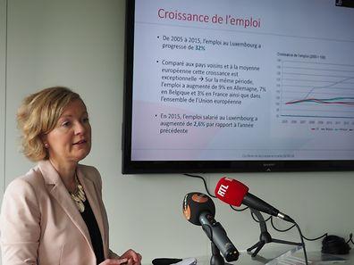 Isabelle Schlesser, directrice de l'Agence pour le développement de l'emploi (ADEM)