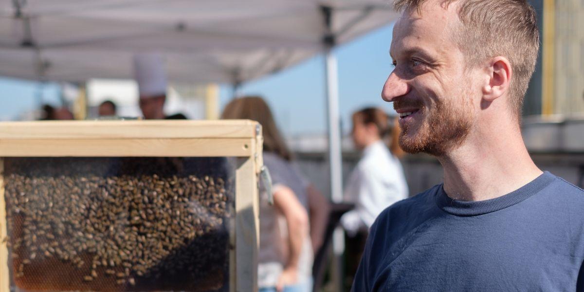 Hugo Zeler, apiculteur urbain.