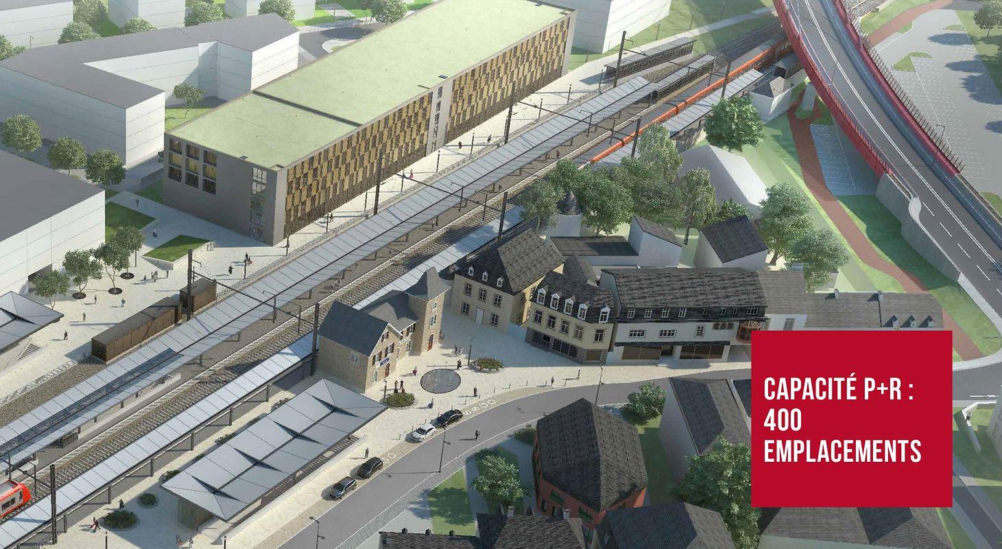 Parmi les chantiers de modernisation des gares, 17 millions d'euros seront consacrés au park and ride et à la gare de Mersch, en fonction en 2021