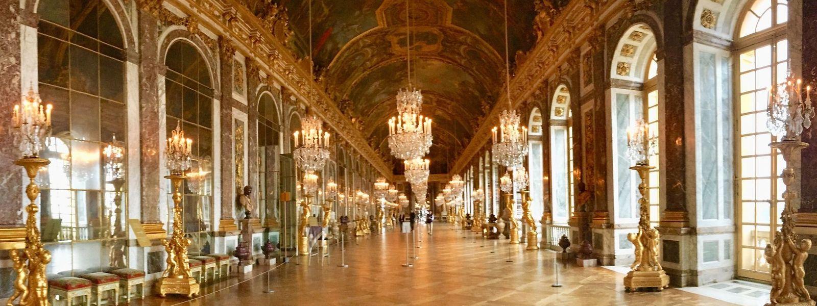 La fameuse Galerie des glaces du château de Versailles.