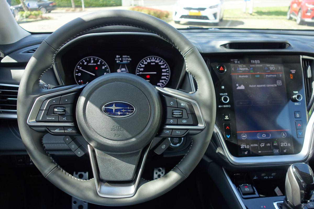 Im Inneren wirkt der Subaru gewohnt funktional – ein Touchscreen gehört aber auch hier zur Ausstattung dazu.