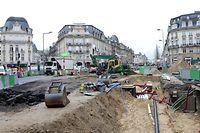 Lokales, Tram-Baustelle, Travaux Tram, Luxtram,  Foto: Chris Karaba/Luxemburger Wort