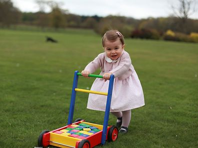 Britain's Princess Charlotte, daughter of the Duke and Duchess of Cambridge, Prince William and his wife Catherine, poses for a photograph in this undated photograph taken by her mother, at Anmer Hall in Norfolk, Britain and released on May 1, 2016.  HRH The Duchess of Cambridge 2016/Courtesy of Kensington Palace/Handout via REUTERS.  ATTENTION EDITORS - THIS IMAGE HAS BEEN PROVIDED BY A THIRD PARTY. NO COMMERCIAL OR BOOK SALES. FOR EDITORIAL USE ONLY. NO RESALES. NO ARCHIVE. ONE TIME USE ONLY.      TPX IMAGES OF THE DAY