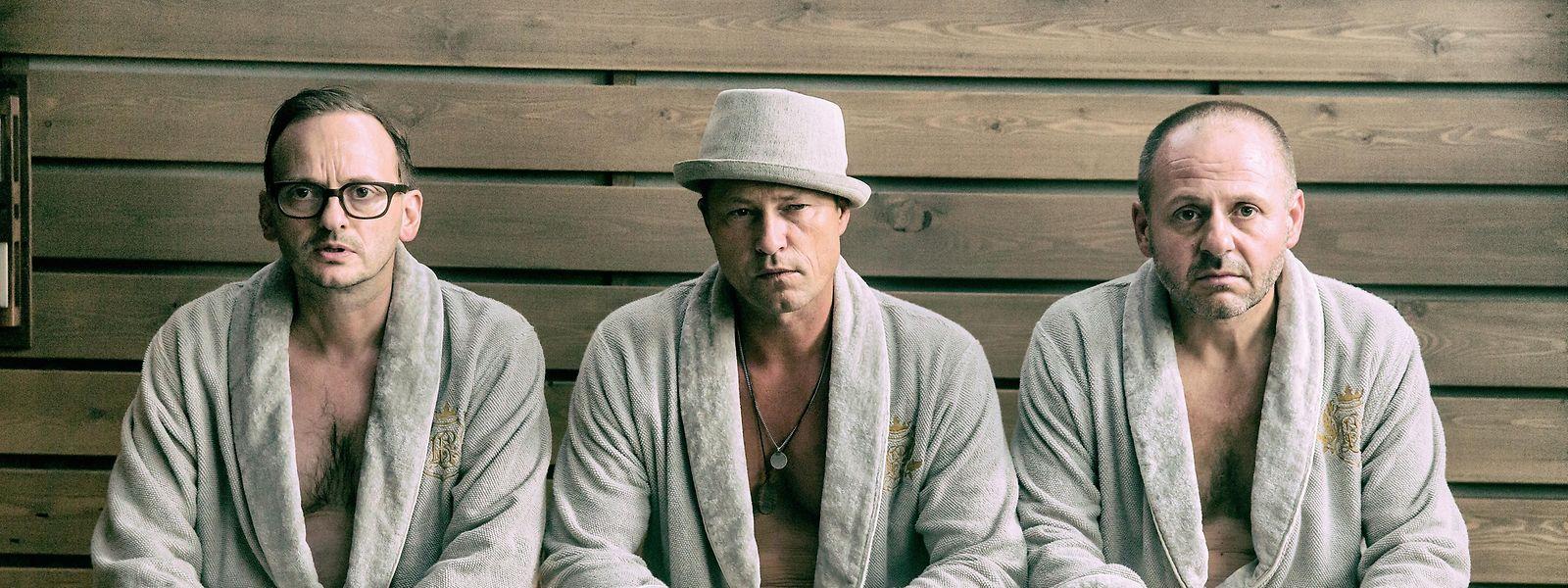 Kämpfen mit dem Älterwerden: Andreas (Milan Peschel), Thomas (Til Schweiger) und Nils (Samuel Finzi) (v.l.n.r.).