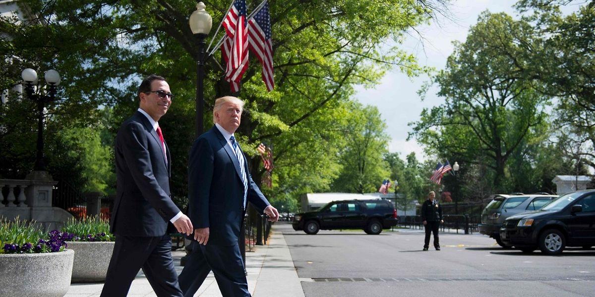 US-Präsident Trump und sein Finanzminister Mnuchin wollen am Mittwoch Details der geplanten Steuerreform vorstellen.