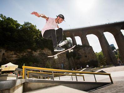Einweihung Skatepark Petrusse, Foto Lex Kleren