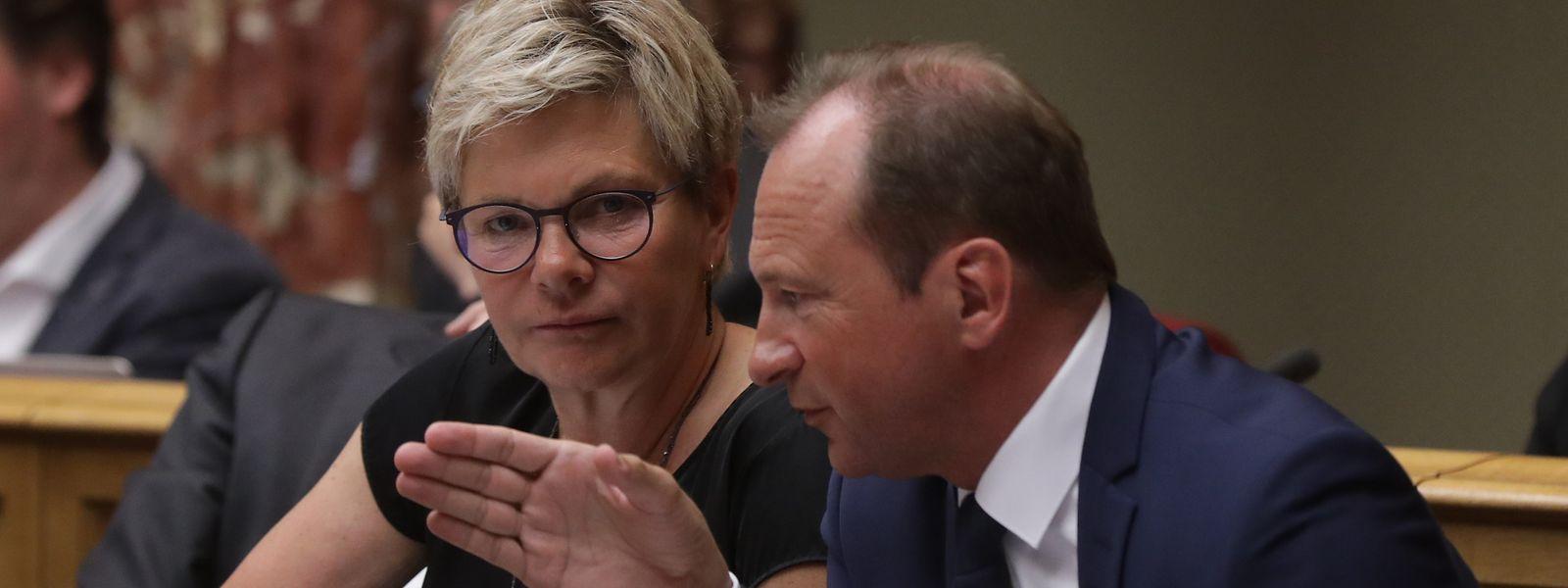 Künftig sollen Martine Hansen und Gilles Roth gemeinsam die Richtung in der CSV-Fraktion vorgeben.
