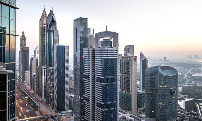 Financial centre in Dubai