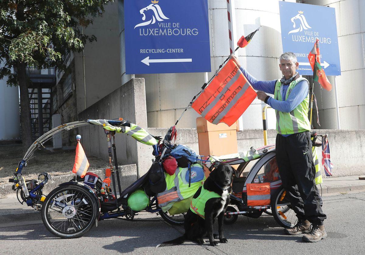 Starsky, der Hund, und Hutch, der umweltbewusste Radler.