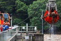 Inondation Luxembourg  22 juillet 2021 nettoyage barrage de Vianden Photo SIBILA LIND