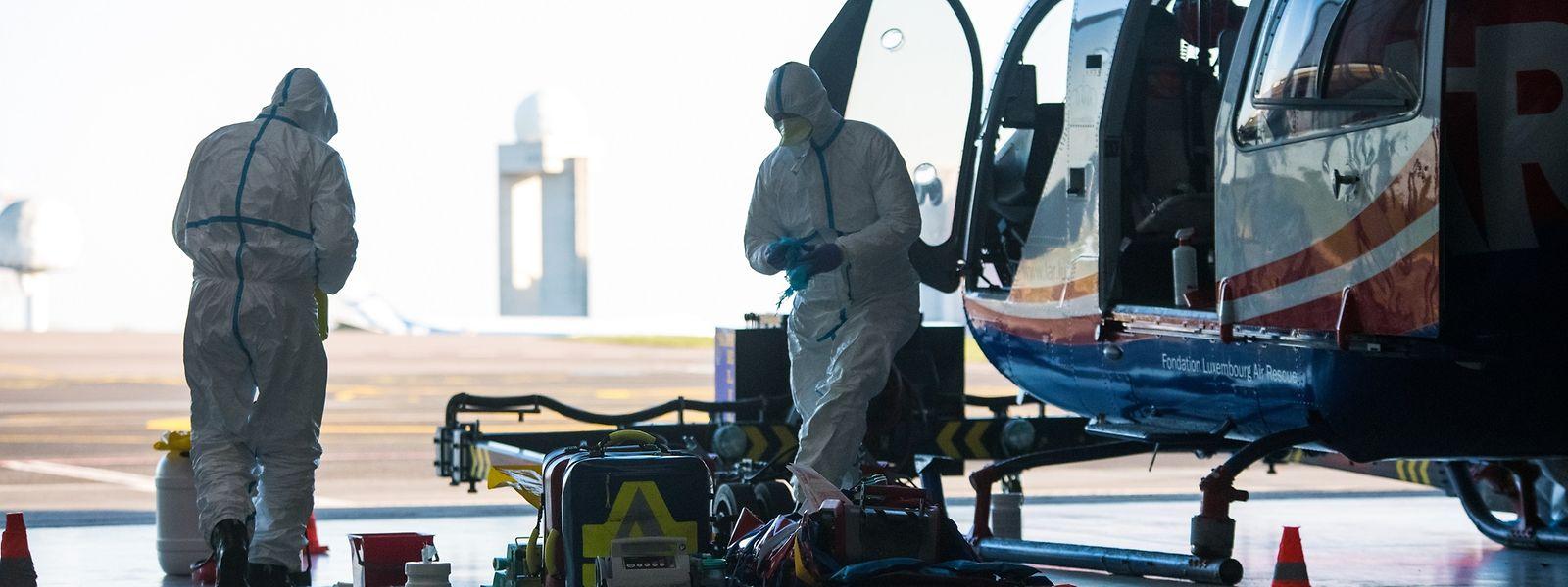 Les transferts des patients français vers les hôpitaux luxembourgeois sont assurés par les équipes de la Luxembourg Air Rescue.