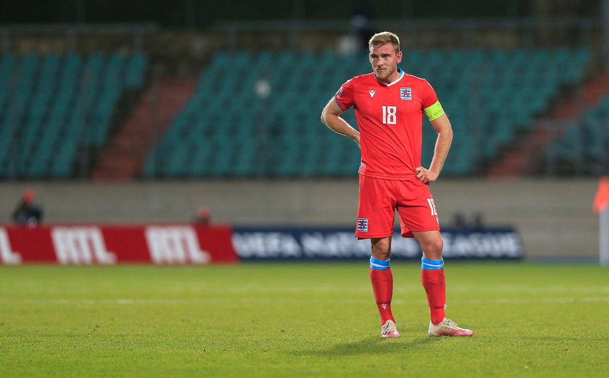 Laurent Jans n'a pu que constater l'inefficacité de l'attaque luxembourgeoise devant les buts.
