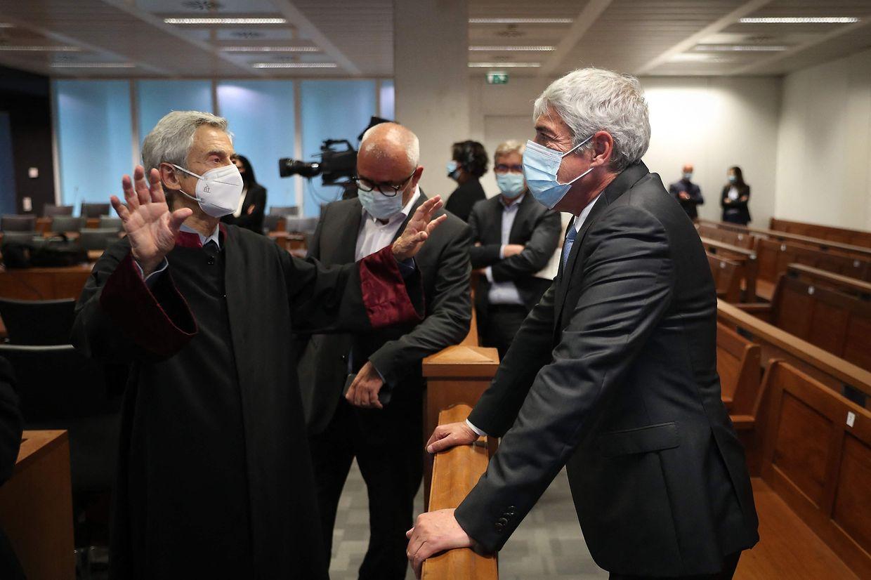 O antigo primeiro-ministro na sessão de decisão instrutória da Operação Marquês, no Campus da Justiça, em Lisboa, a 9 de abril.