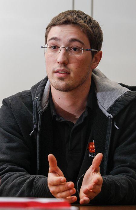 Acel-Präsident Tom Hermes studiert im fünften Jahr Maschinenbau- und Wirtschaftsingenieurwesen in Aachen.