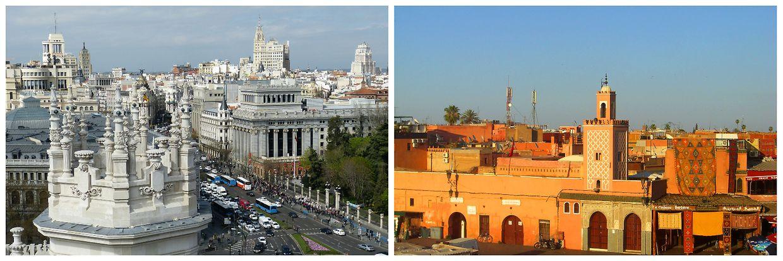 In Madrid sollen im Jahre 2050 Temperaturen vorherrschen, wie derzeit in Marrakesch.