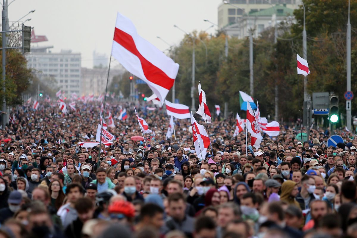 Proteste am Sonntag in Minsk.