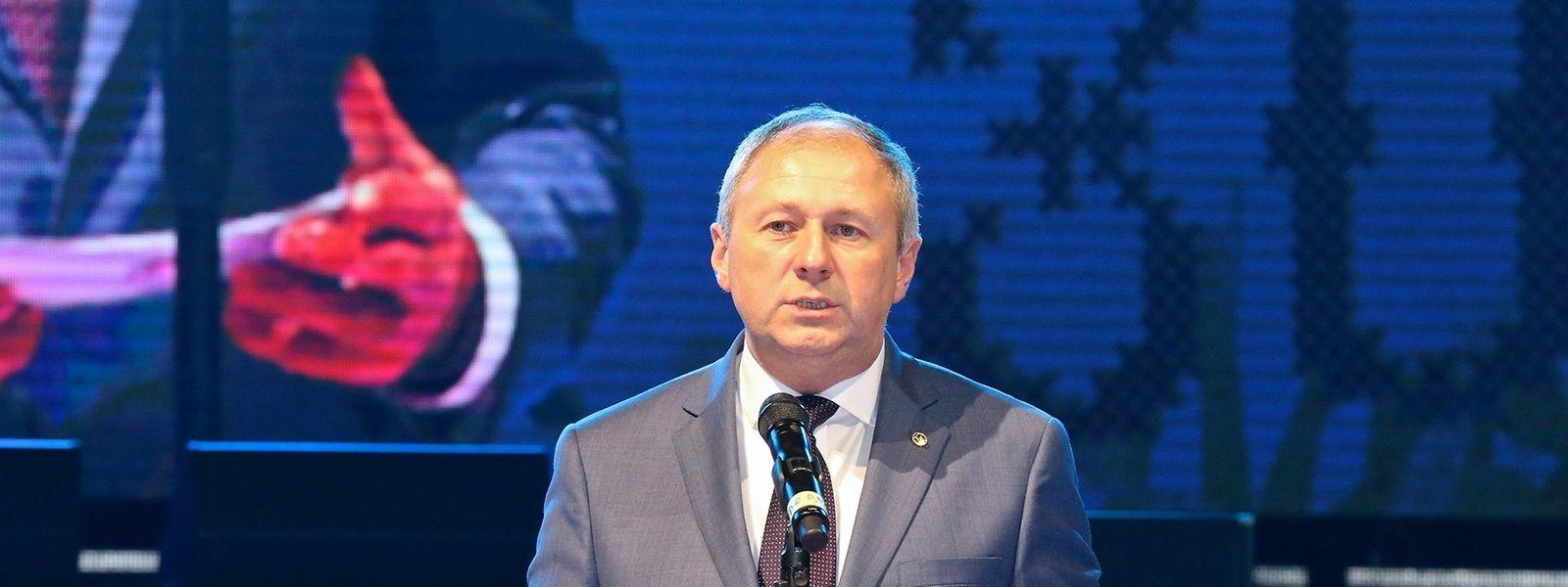 Sergei Rumas, le président de la Fédération biélorusse de football nommé Premier ministre cet été.
