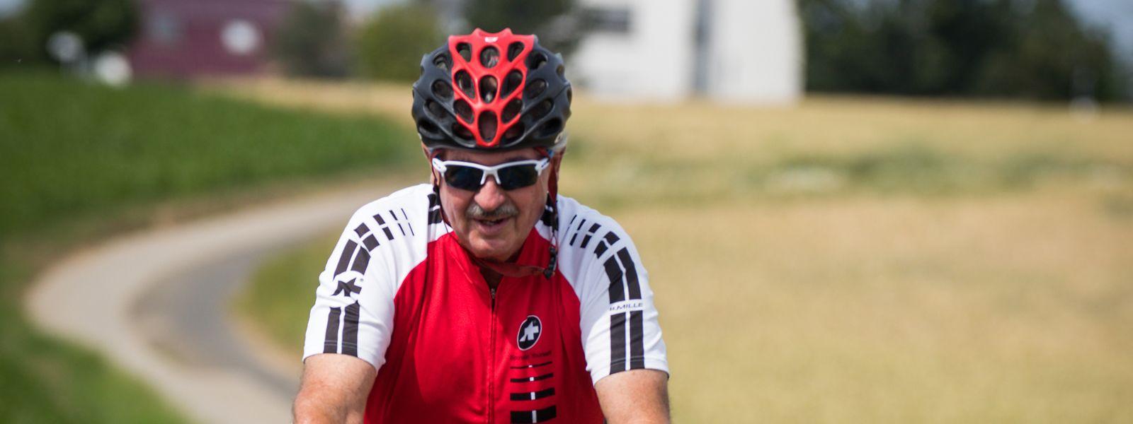 Am Tag nach seiner Corona-Impfung konnte sich Jean Asselborn schon wieder auf sein geliebtes Rennrad setzen.
