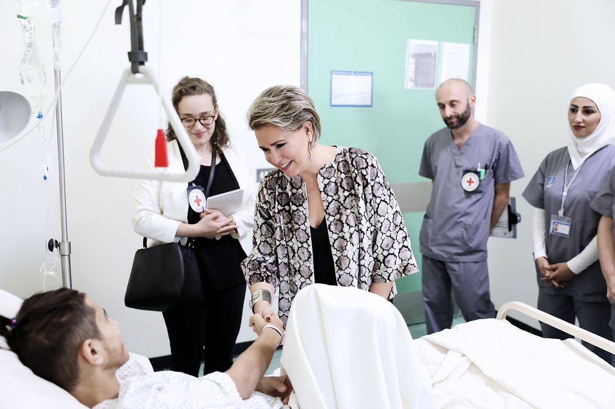 L'hôpital Rafik Hariri à Beyrouth accueille des réfugiés syriens.