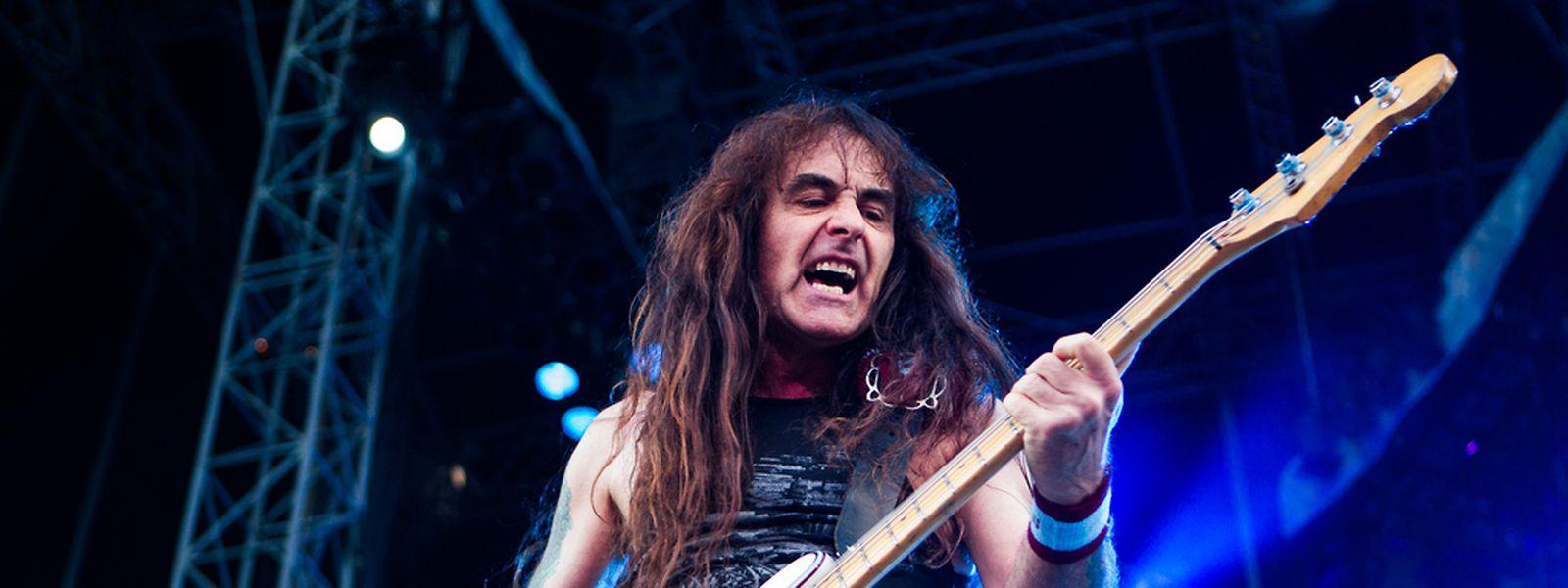 Steve Harris beim Iron-Maiden-Konzert in Luxemburg 2014.
