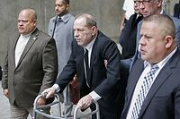 NEW YORK, NY - JANUARY 06: Harvey Weinstein leaves court on January 6, 2020 in New York City. Weinstein, a movie producer whose alleged sexual misconduct helped spark the #MeToo movement, pleaded not-guilty on five counts of rape and sexual assault against two unnamed women and faces a possible life sentence in prison.   Kena Betancur/Getty Images/AFP == FOR NEWSPAPERS, INTERNET, TELCOS & TELEVISION USE ONLY ==