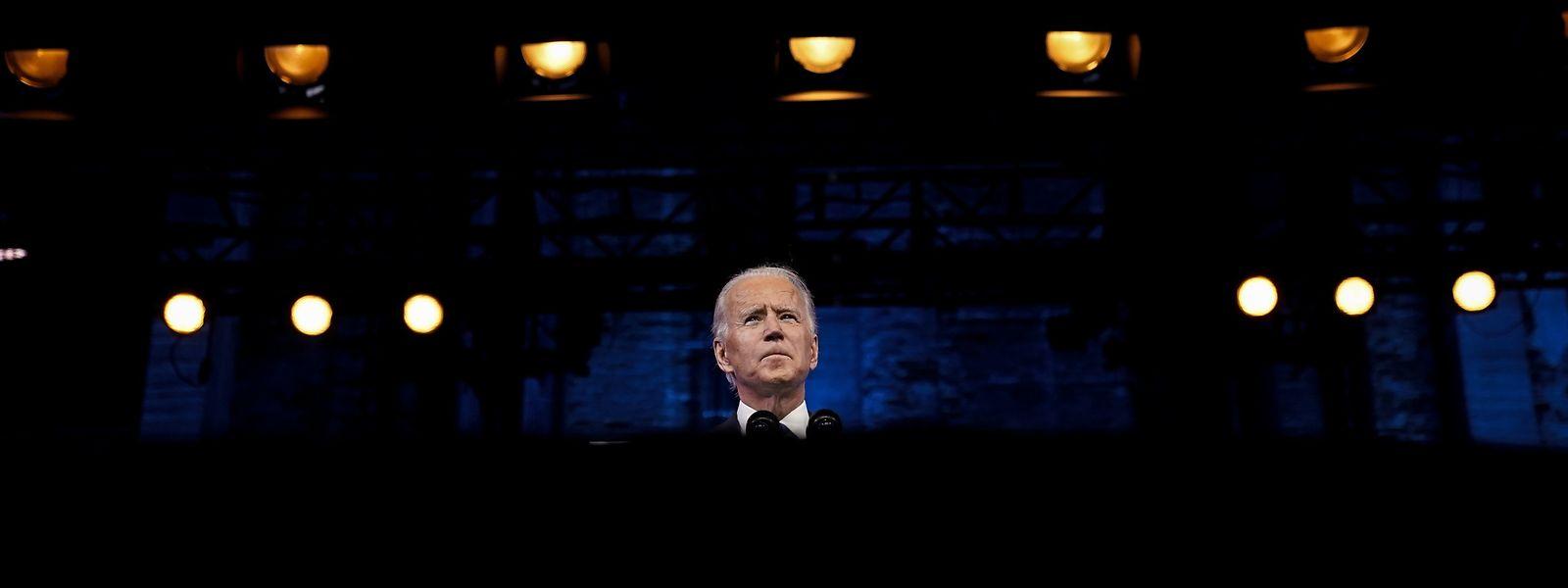 Der gewählte Präsident Joe Biden bei seiner Ansprache am 14. Dezember nach der Bestätigung seiner Wahl durch das Electoral College.